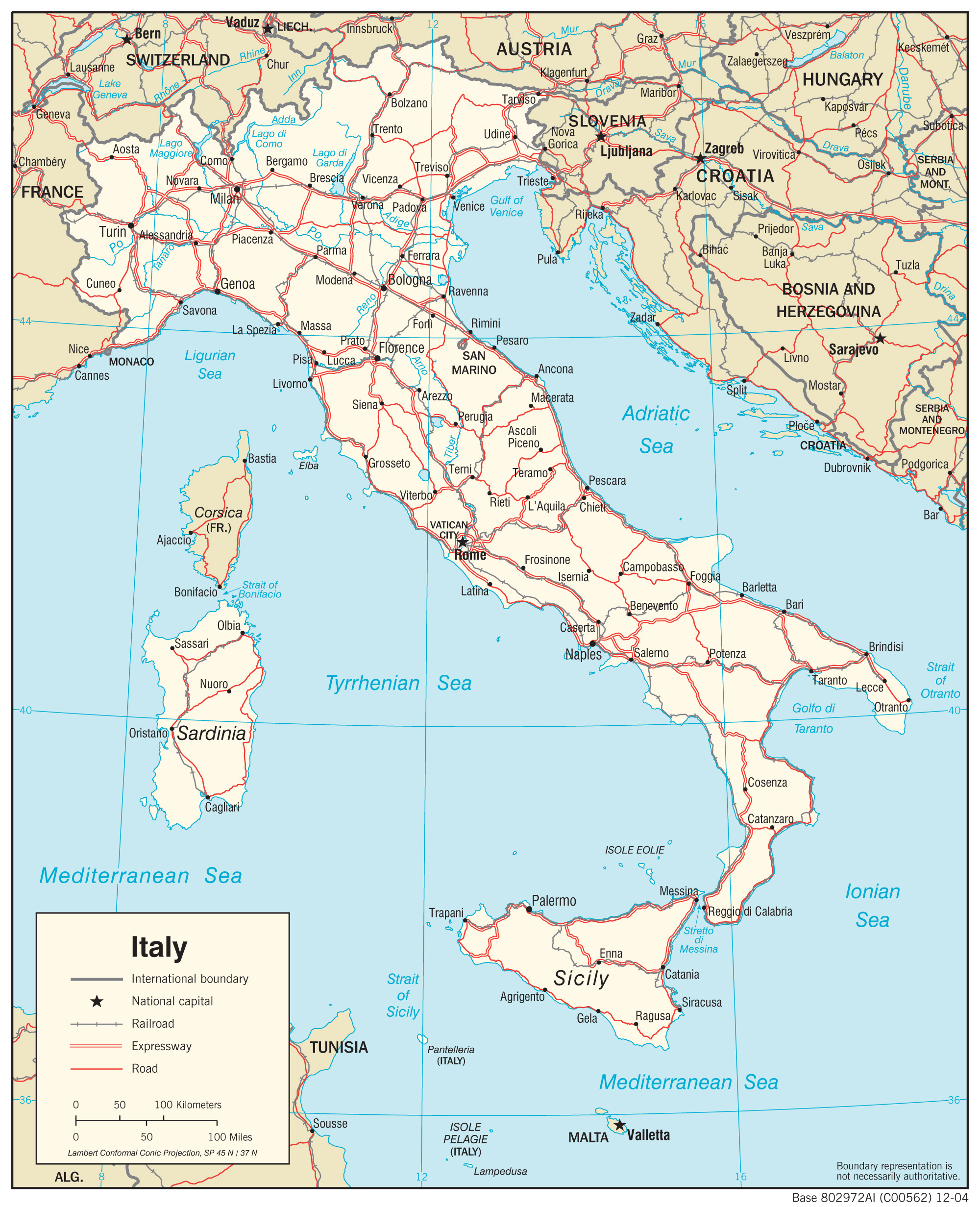 Free Printable Map Of Italy.Maps Of Italy Detailed Map Of Italy In English Tourist Map Of