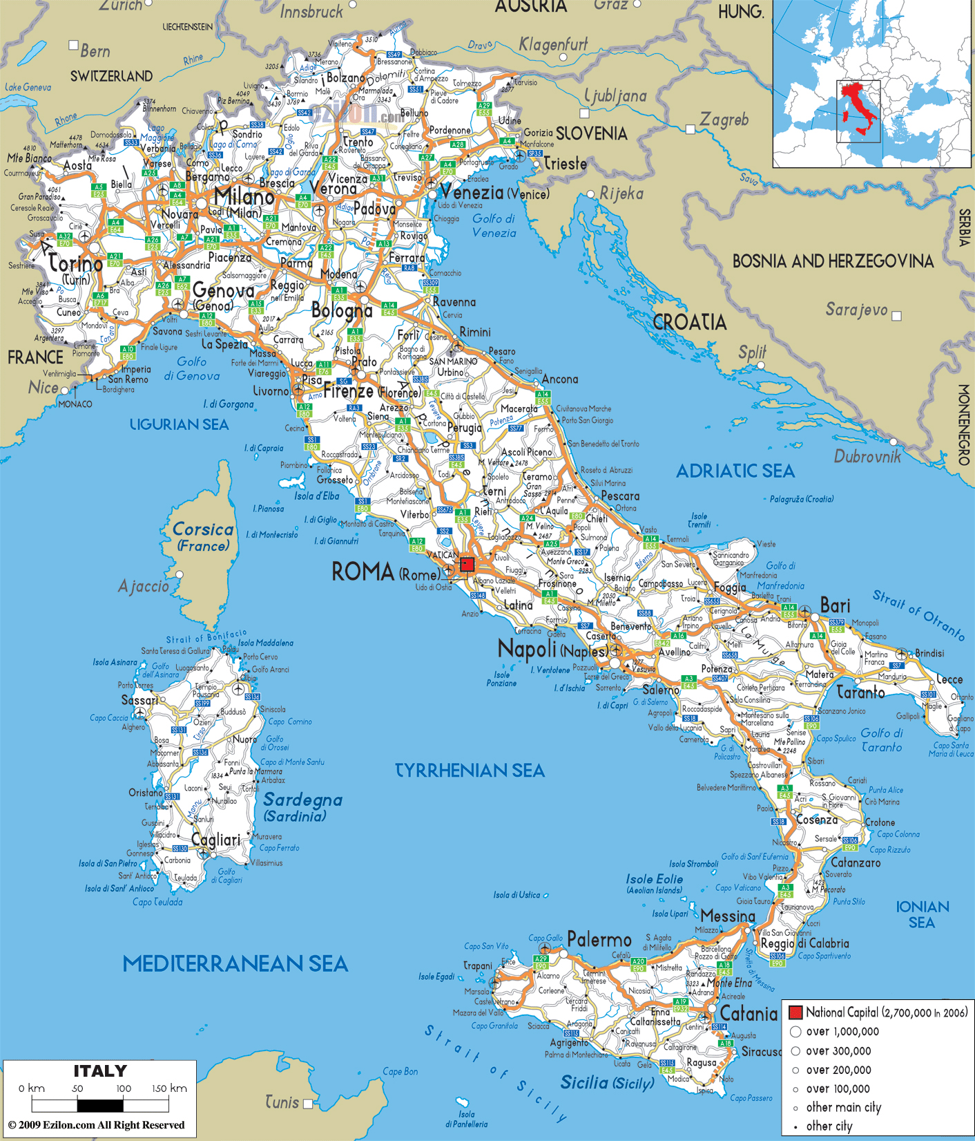 City Map Of Italy Deboomfotografie - Cities map of italy
