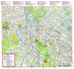 Tourist map of Rome city center.