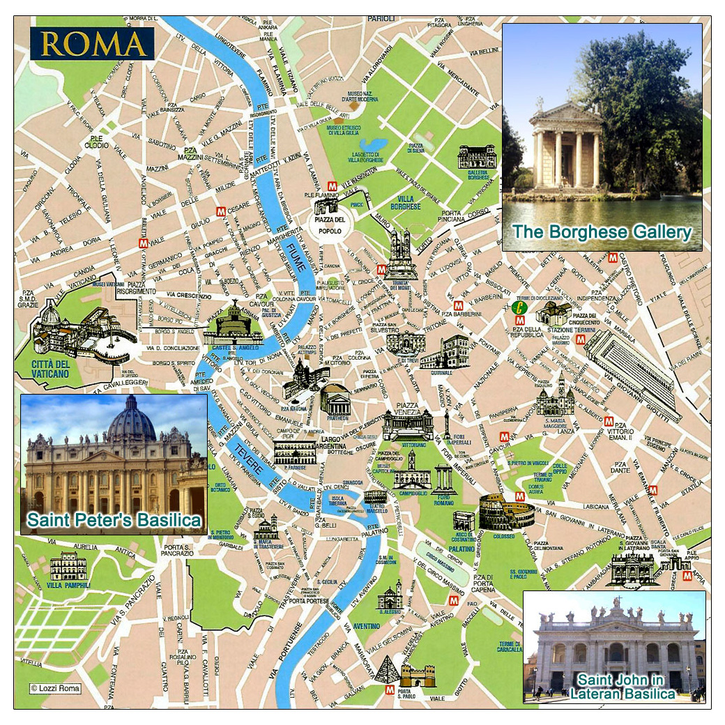City Map Of Italy In English.Maps Of Rome Detailed Map Of Rome In English Maps Of Rome Italy