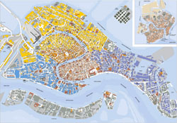 Large detailed map of Venice.