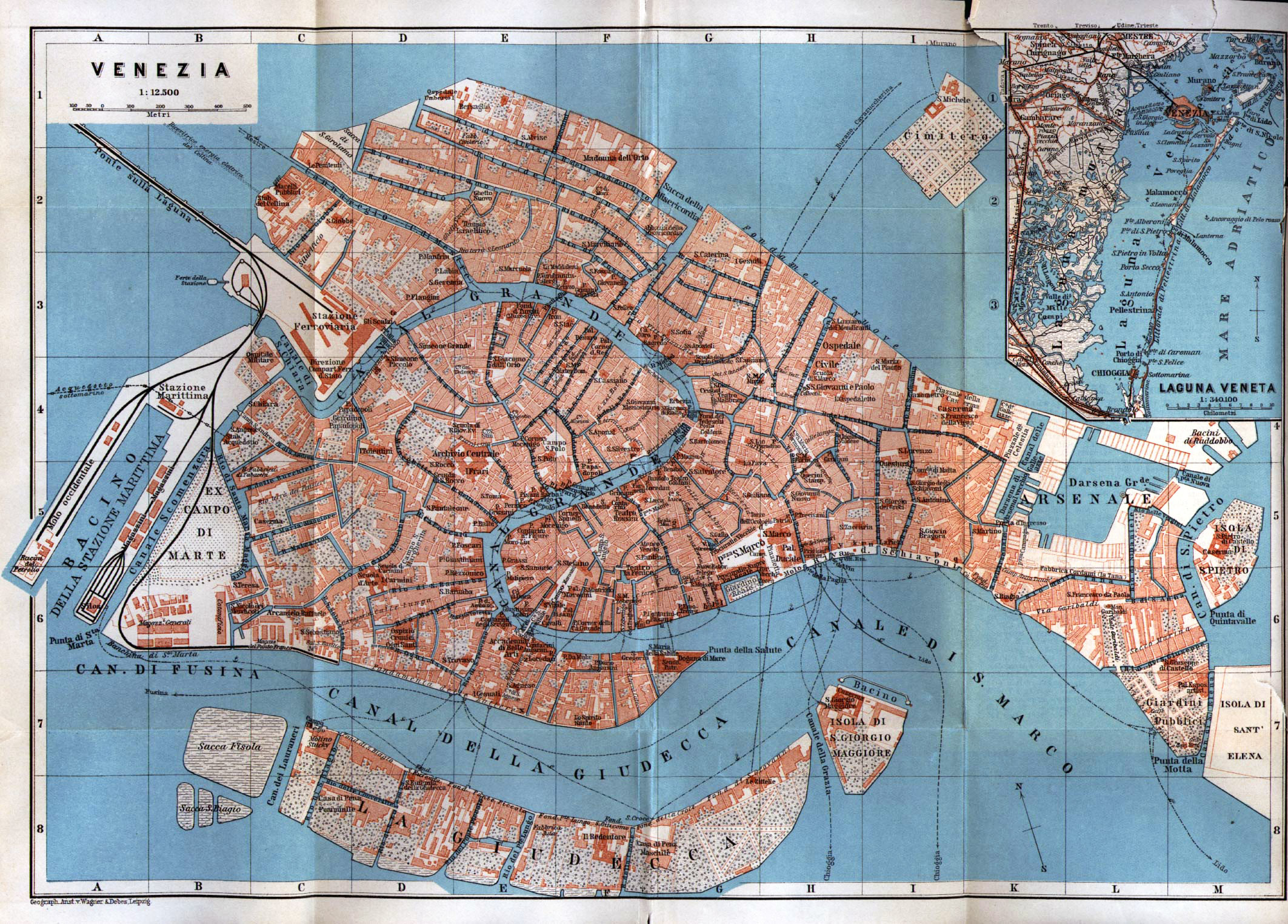 Maps of Venice Detailed map of Venice in English – Venice Italy Tourist Map