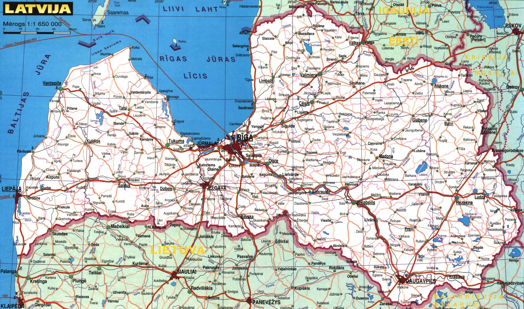 Maps Of Latvia Detailed Map Of Latvia In English