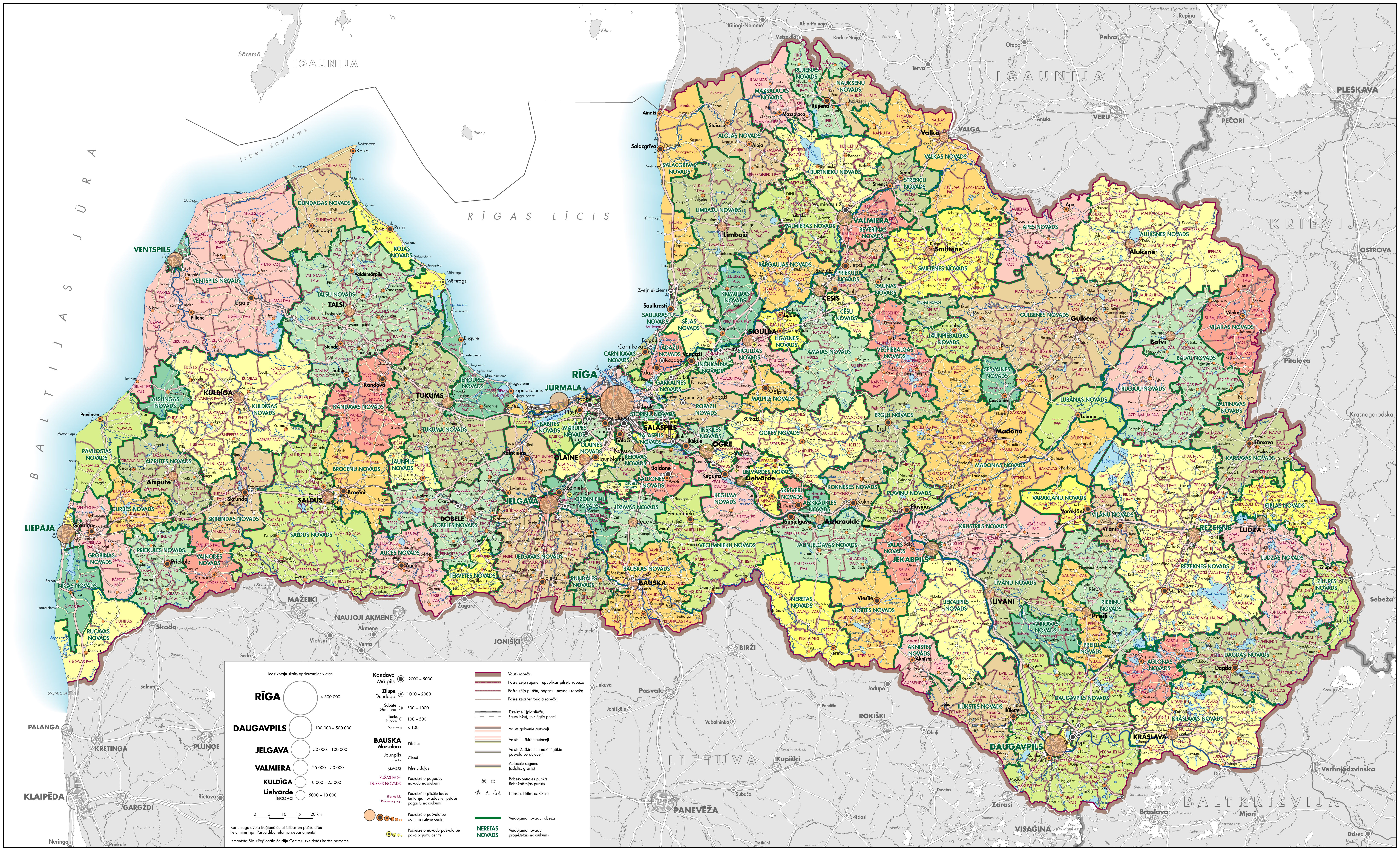 Maps of Latvia Detailed map of Latvia in English Tourist map of