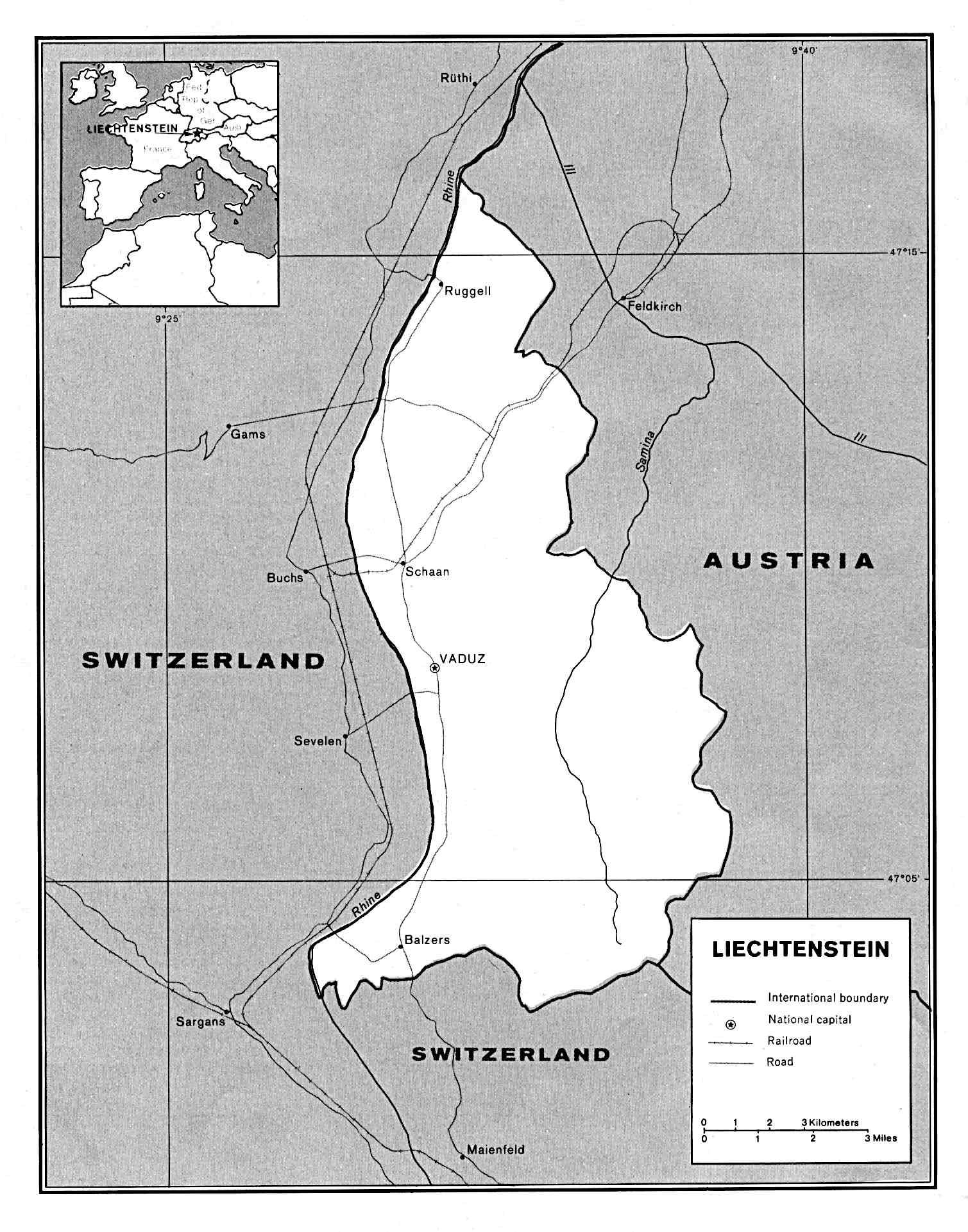 Maps Of Liechtenstein Detailed Map Of Liechtenstein In English - Liechtenstein maps with countries