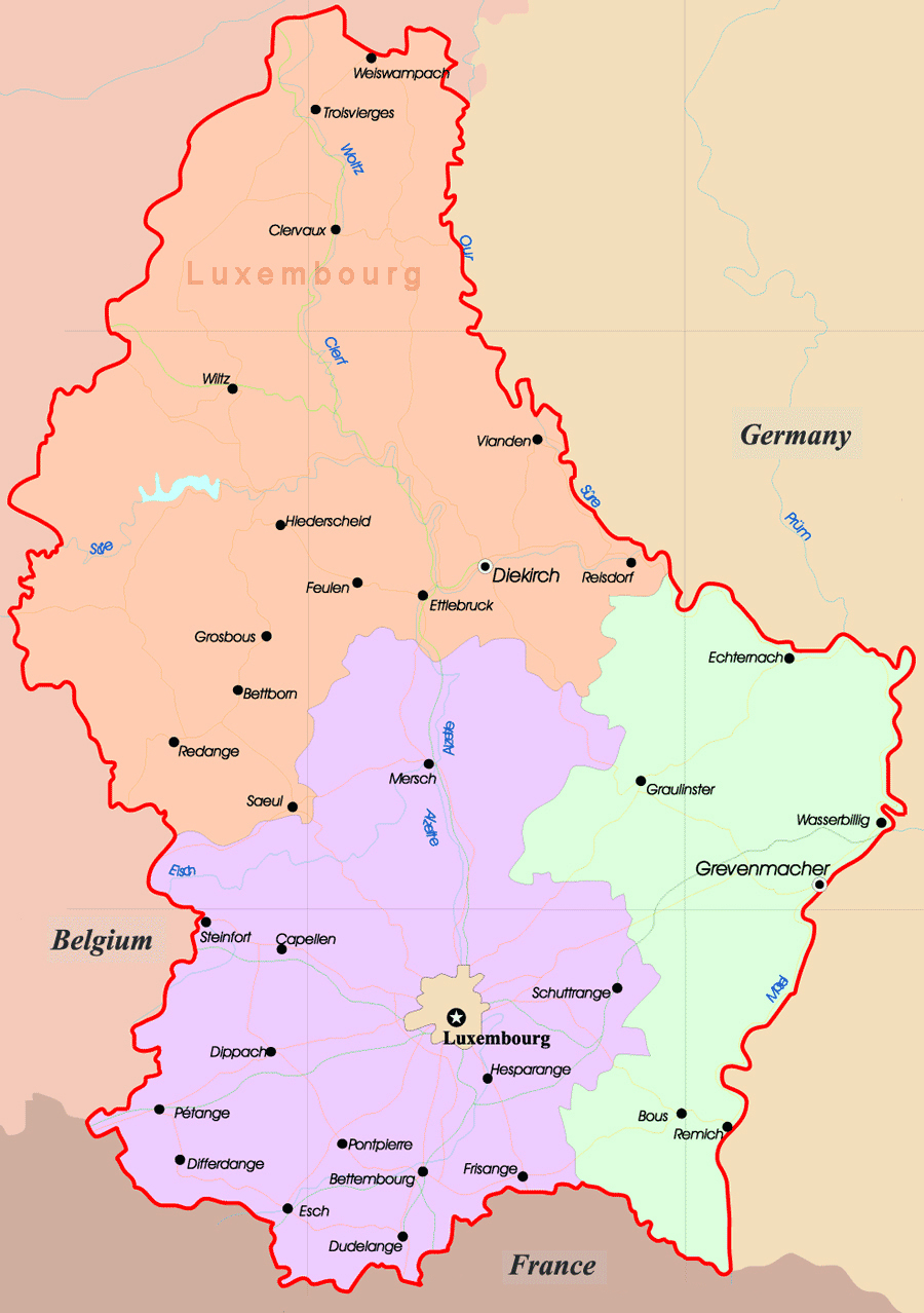 Maps of Luxembourg | Detailed map of Luxembourg in English ...