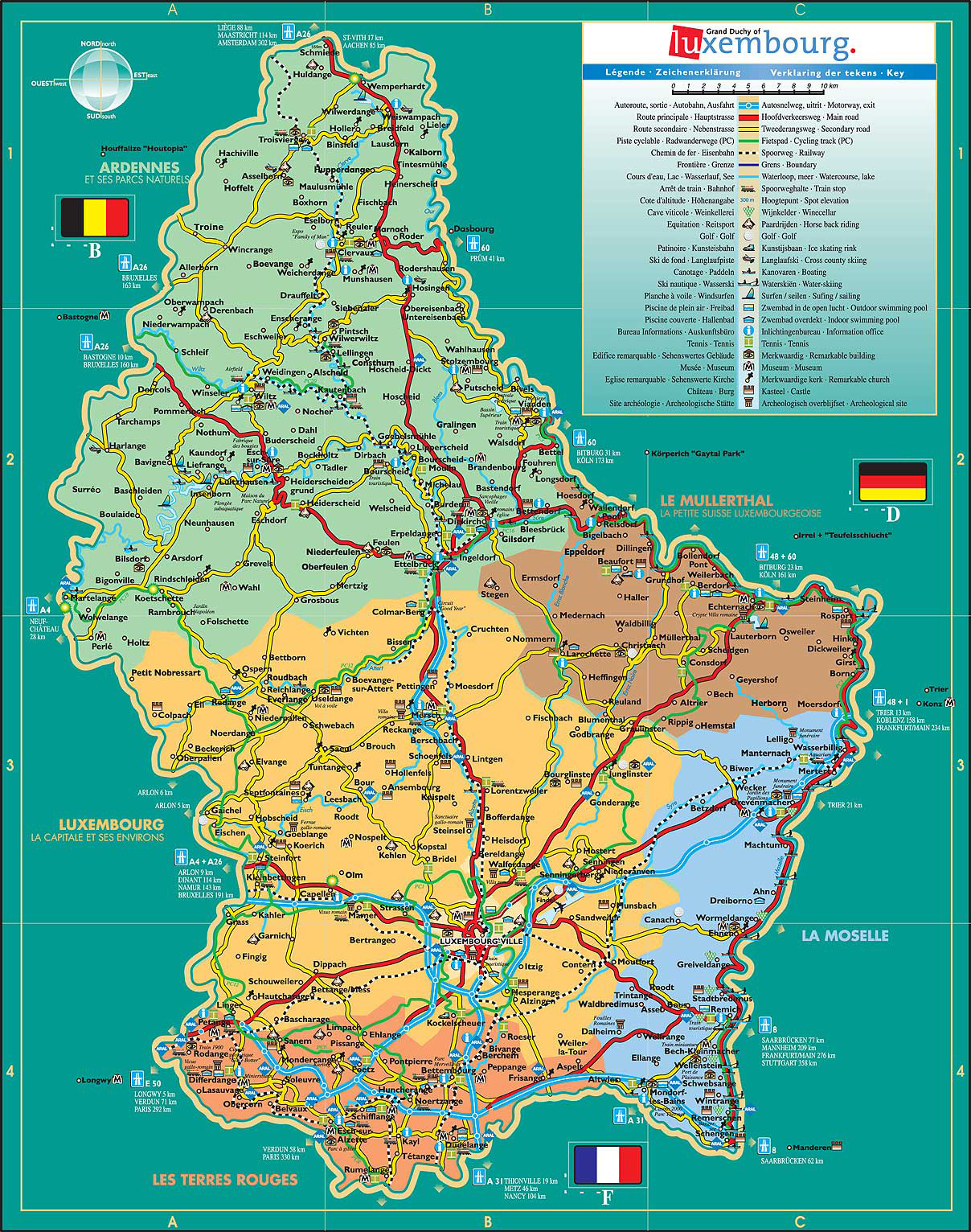 Maps of Luxembourg | D...