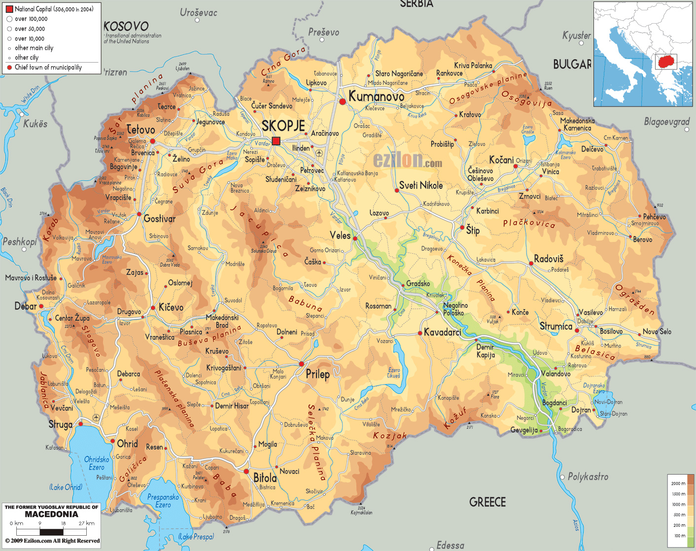 maps of macedonia detailed map of macedonia in english. Black Bedroom Furniture Sets. Home Design Ideas