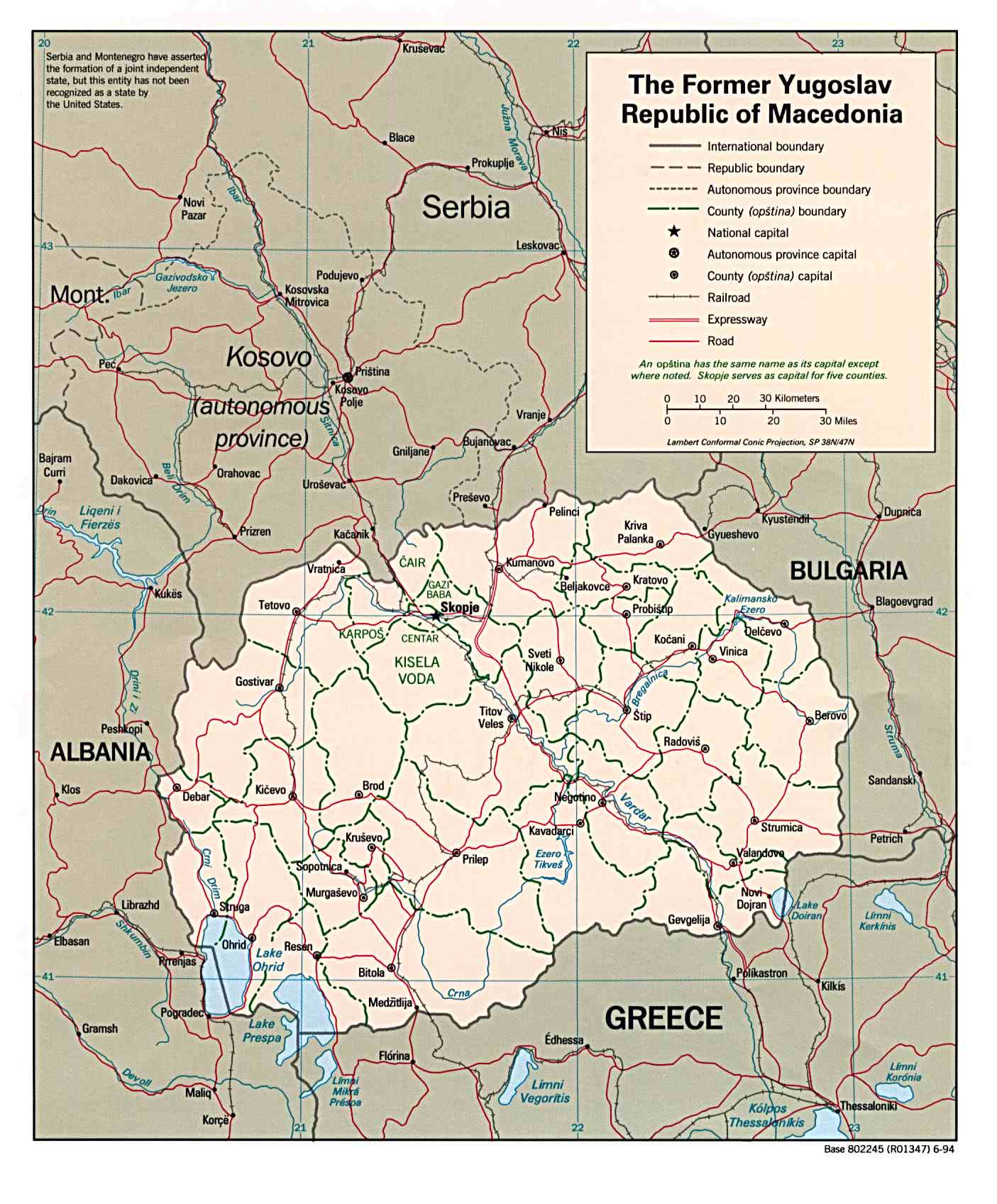 Maps of macedonia detailed map of macedonia in english tourist political and administrative map of macedonia with roads and cities publicscrutiny