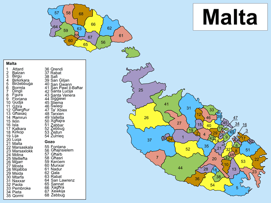 Maps of Malta | Detailed map of Malta in English | Tourist ...