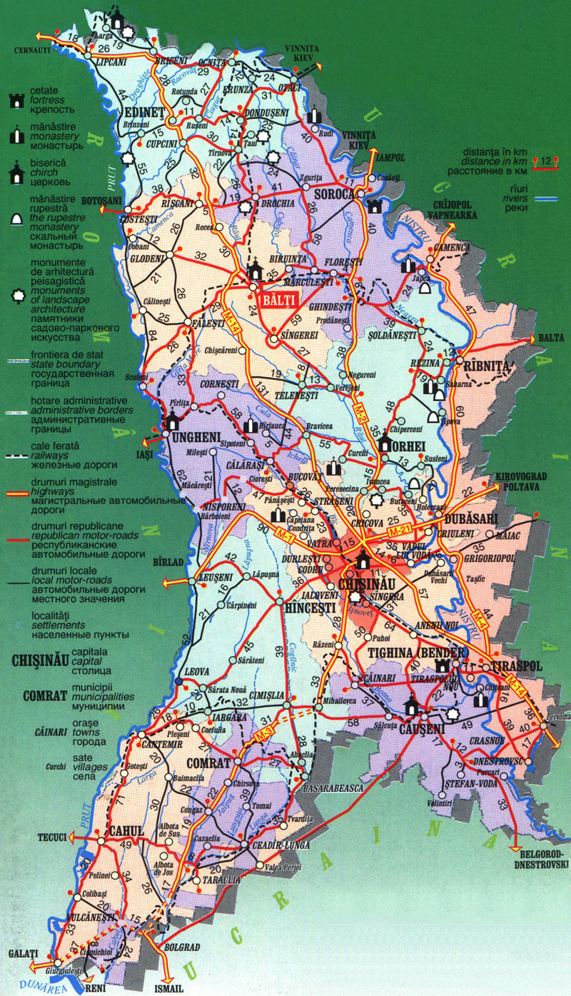 Maps of Moldova | Detailed map of Moldova in English | Tourist map of Moldova | Road map of ...