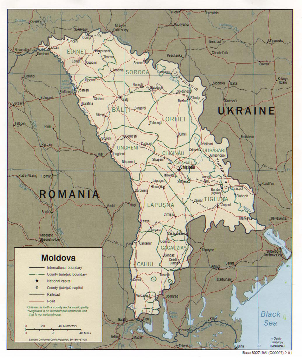 Maps of Moldova Detailed map of Moldova in English Tourist map