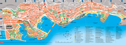 Large tourist map of Monaco.