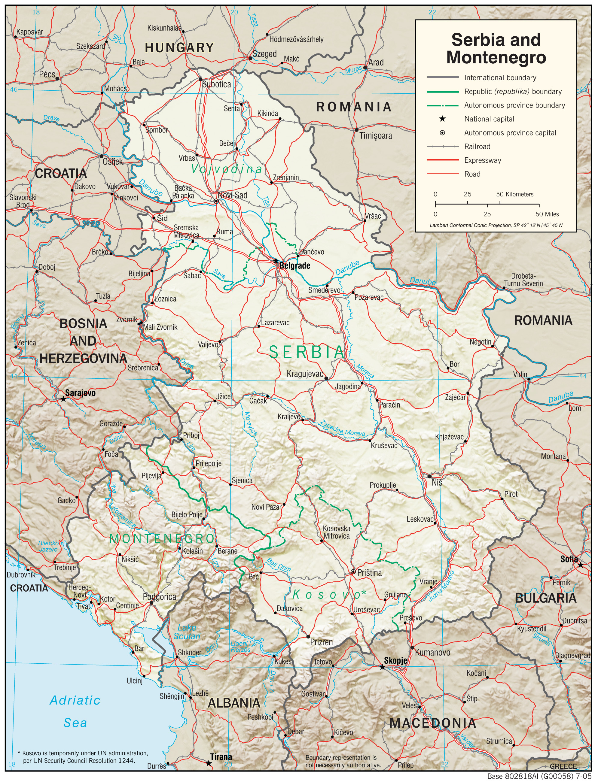 Maps of Montenegro Detailed map of Montenegro in English Tourist