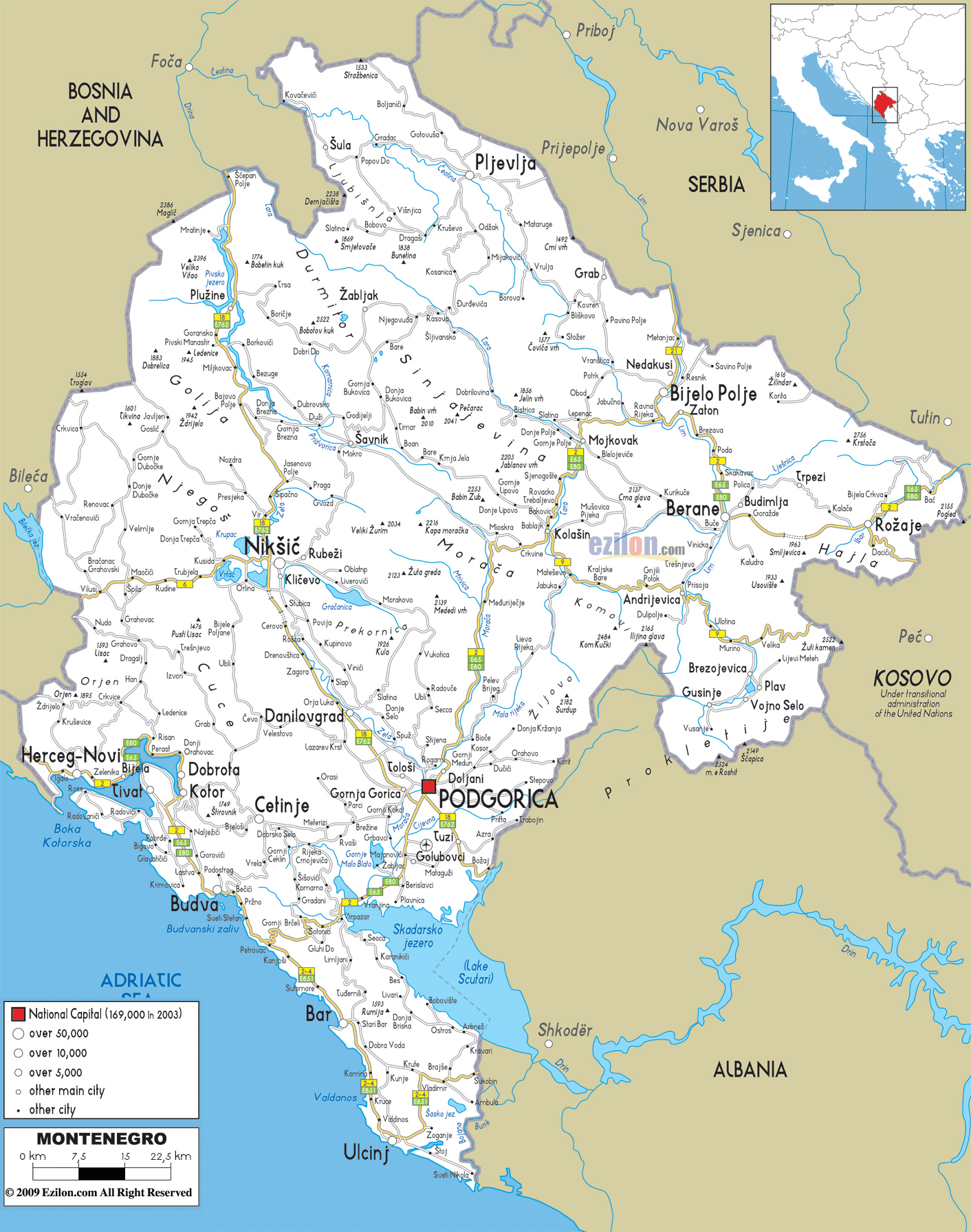 Maps Of Montenegro Detailed Map Of Montenegro In English