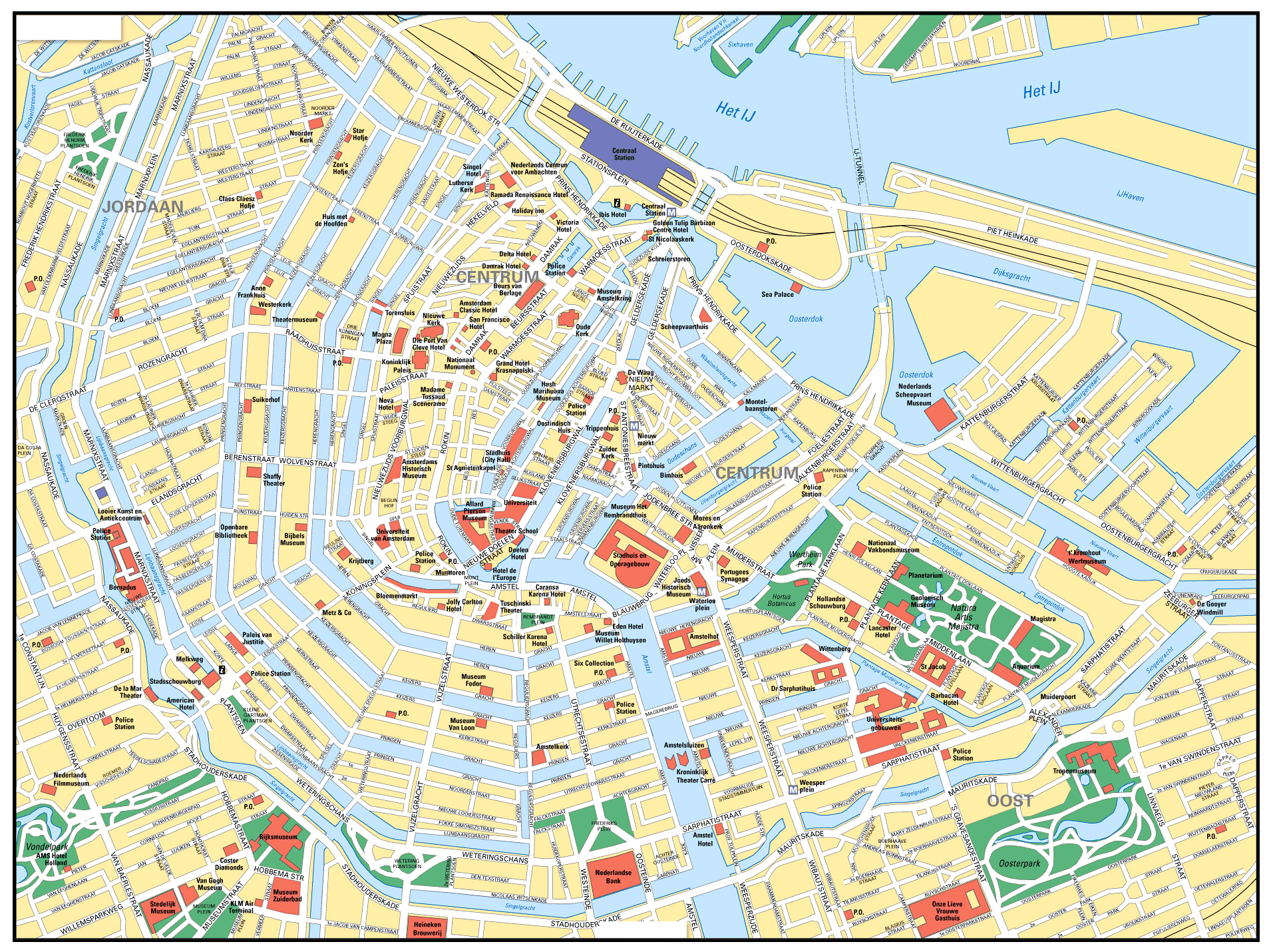 Maps of Amsterdam | Detailed map of Amsterdam in English | Maps of ...