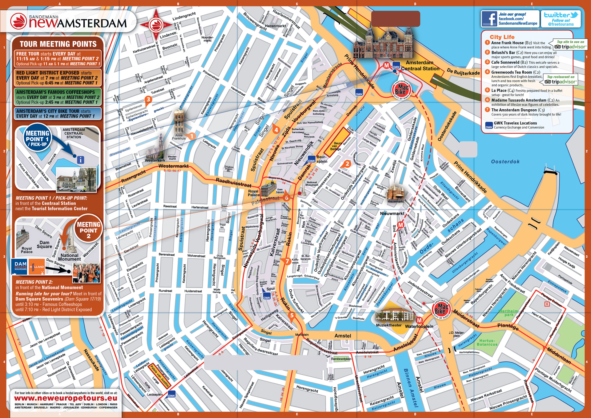 Maps of Amsterdam Detailed map of Amsterdam in English – Amsterdam Tourist Attractions Map