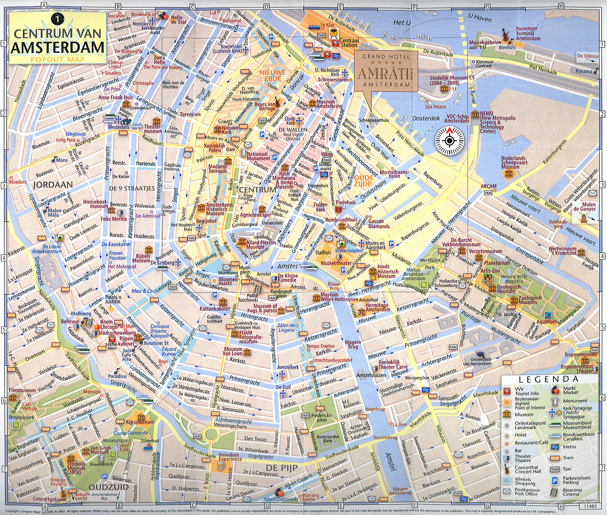 This is a photo of Impeccable Printable Map of Amsterdam