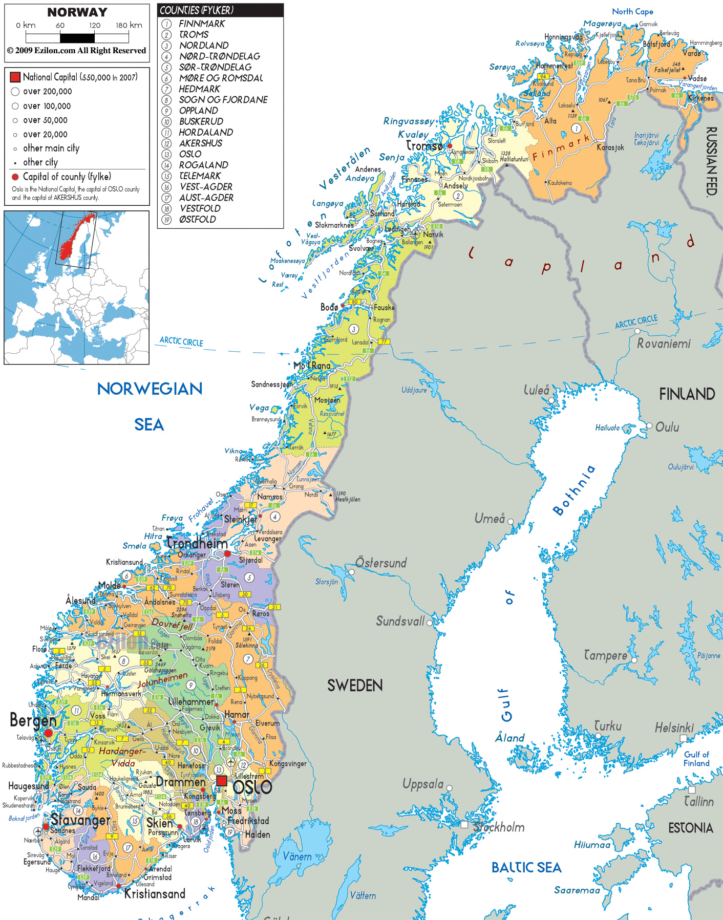 photo regarding Printable Map of Norway identify Maps of Norway Comprehensive map of Norway inside of English Vacationer