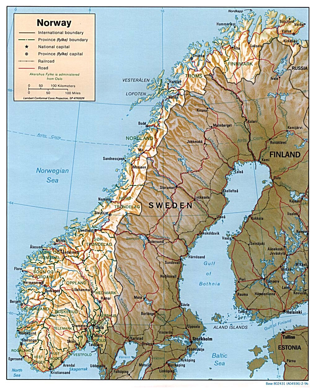 Maps Of Norway Detailed Map Of Norway In English Tourist Map - Norway map picture