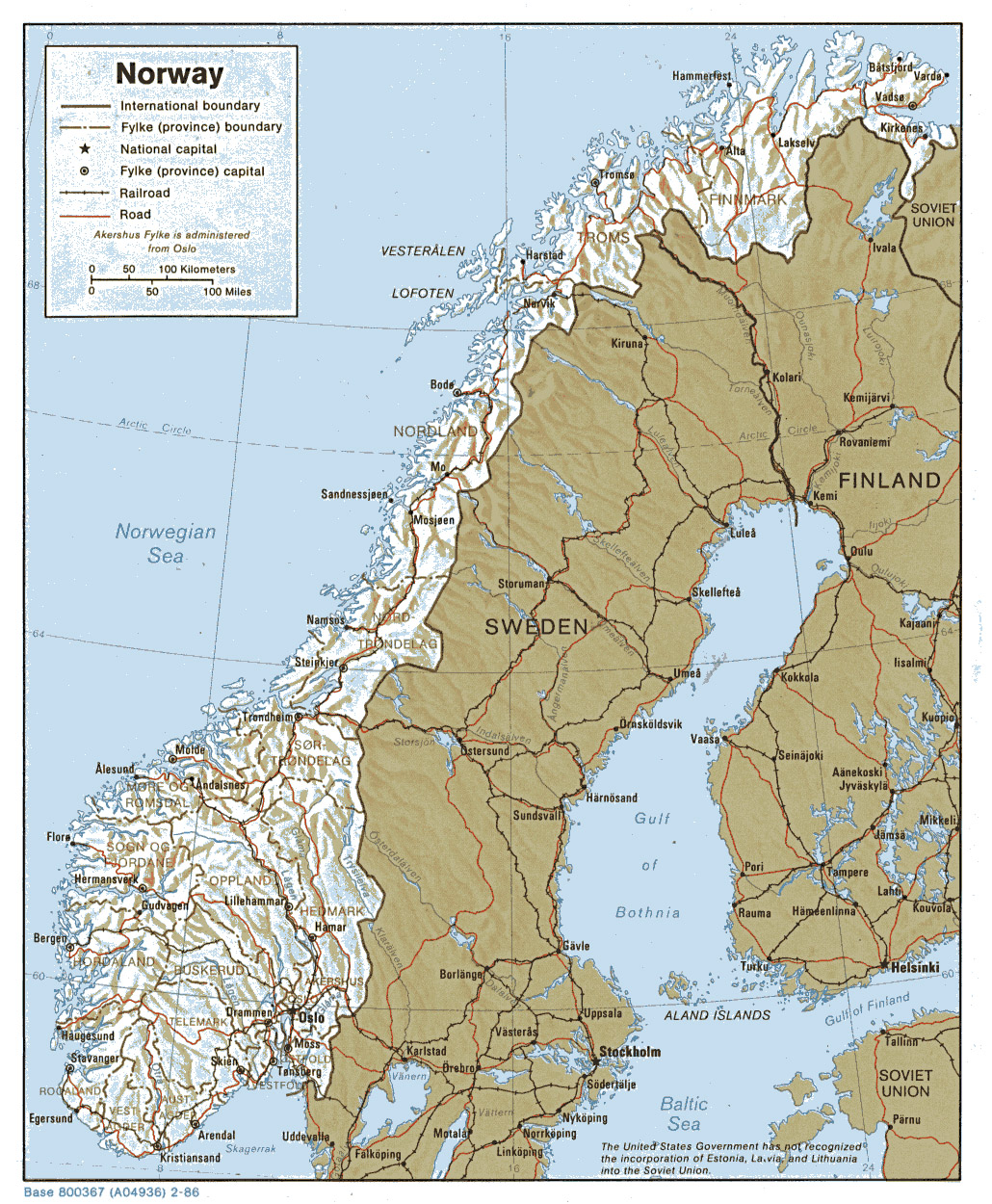 graphic about Printable Map of Norway called Maps of Norway Comprehensive map of Norway in just English Vacationer