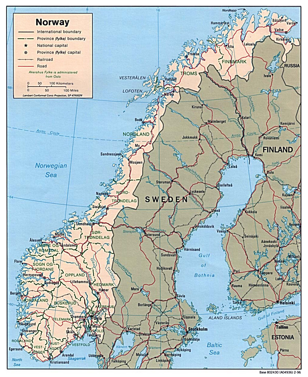 graphic regarding Printable Map of Norway identified as Maps of Norway Thorough map of Norway within just English Vacationer