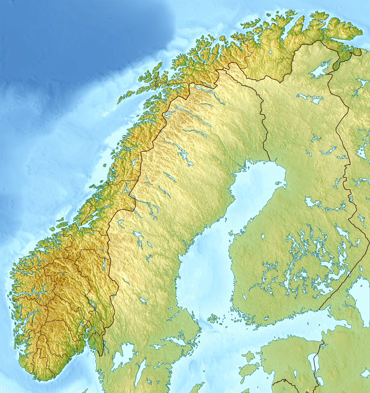 Maps of Norway Detailed map of Norway in English Tourist map of