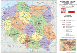 Large administrative map of Poland.