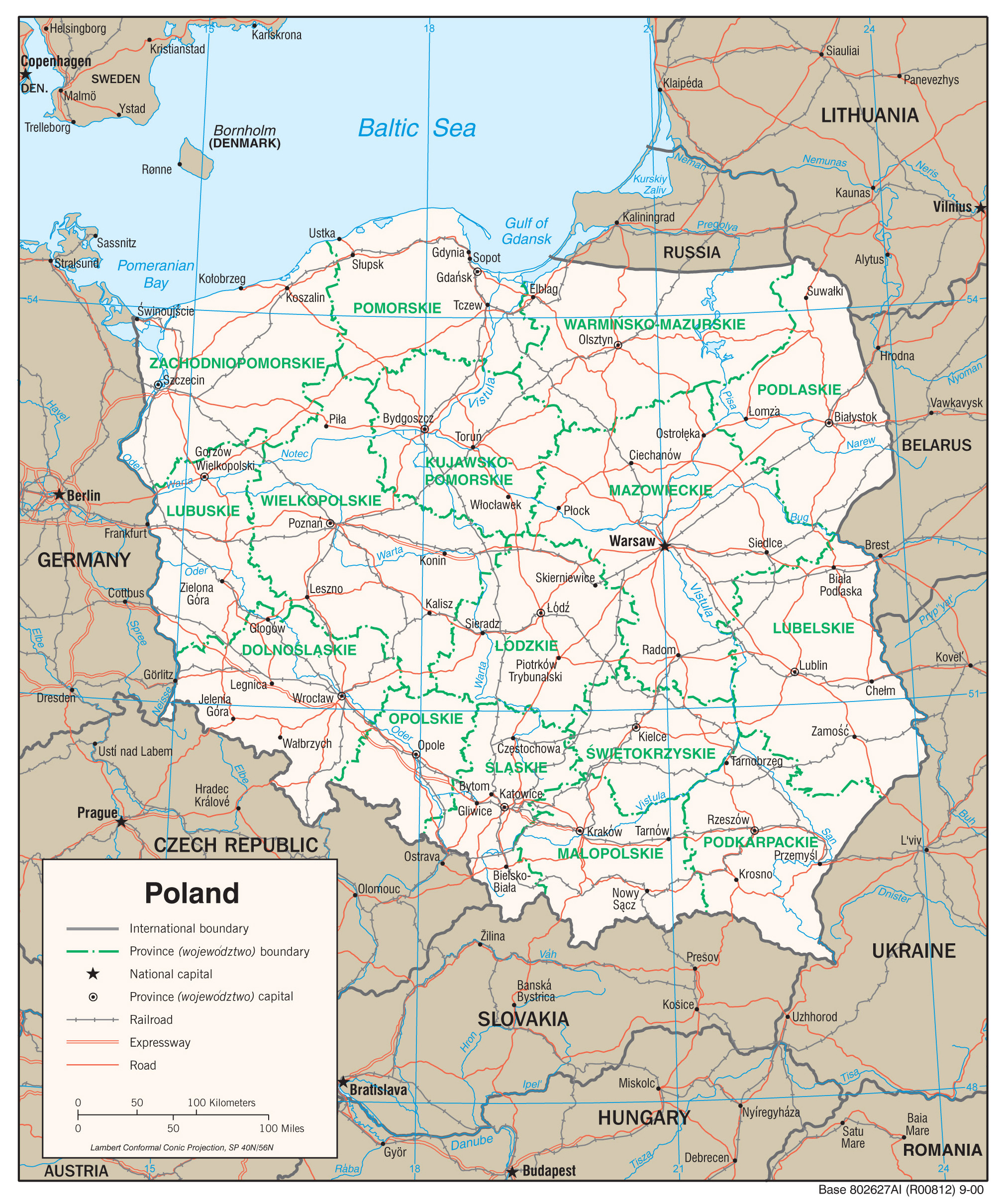 Maps of Poland Detailed map of Poland in English Tourist map of