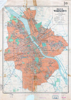 Large scale detailed city plan of Warsaw - 1948.