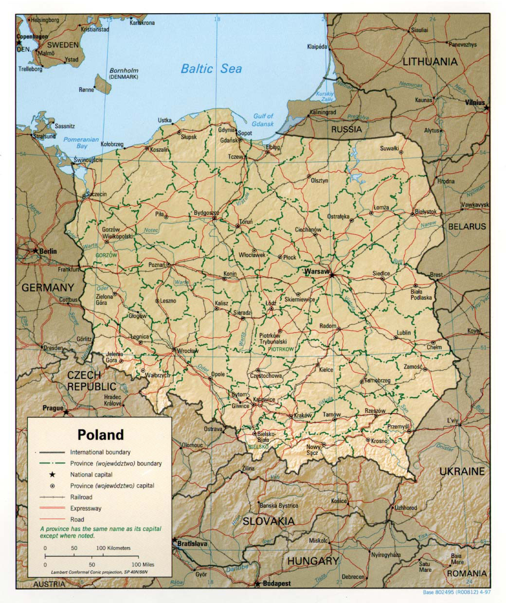 photo about Printable Map of Poland named Maps of Poland In depth map of Poland within just English Vacationer