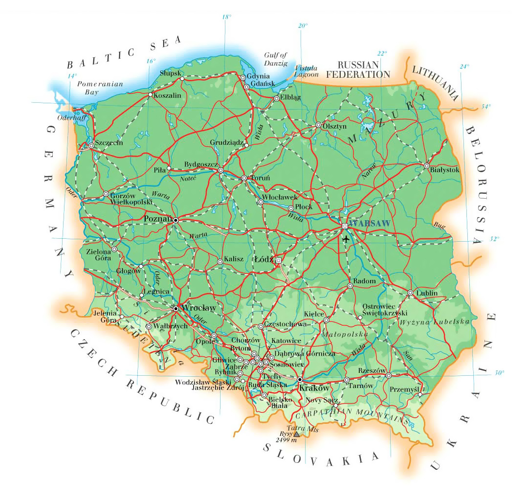 Maps of Poland | Detailed map of Poland in English | Tourist ...