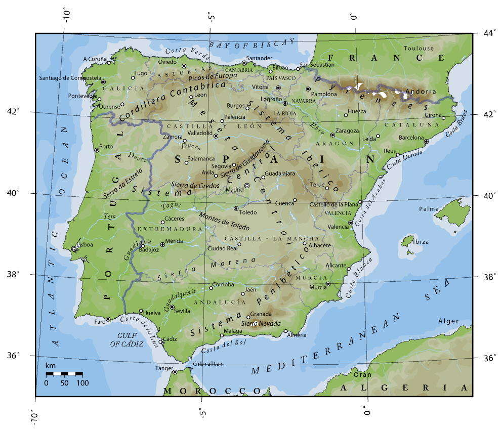 Map Of Portugal And Spain Detailed.Maps Of Portugal Detailed Map Of Portugal In English Tourist Map