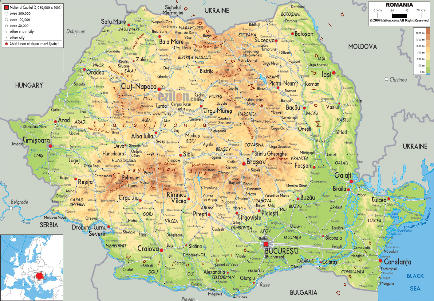 Maps of Romania | Deta...