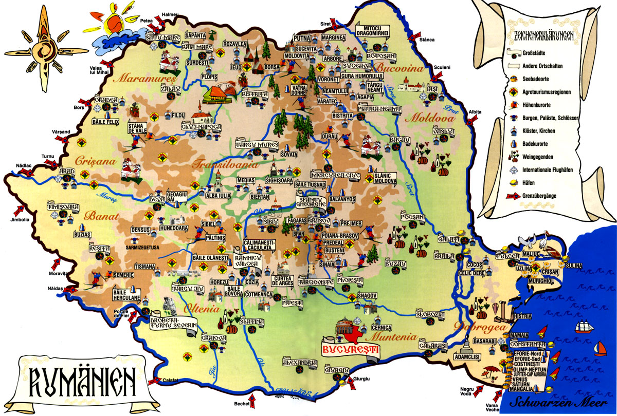 Maps of Romania Detailed map of Romania in English – Tourist Map of Switzerland