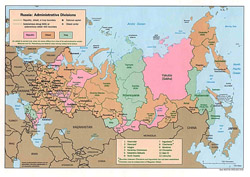 Administrative map of Russia.