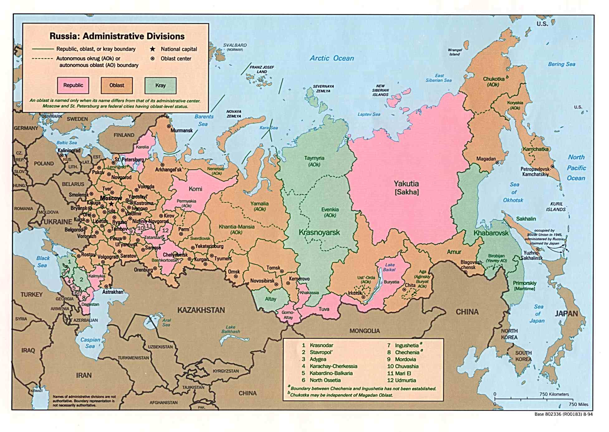 Maps Of Russia Detailed Map Of Russia With Cities And Regions - Russia administrative map