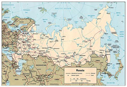 Detailed political map of Russia.