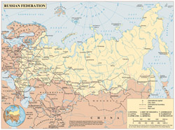 Large political map of Russia.