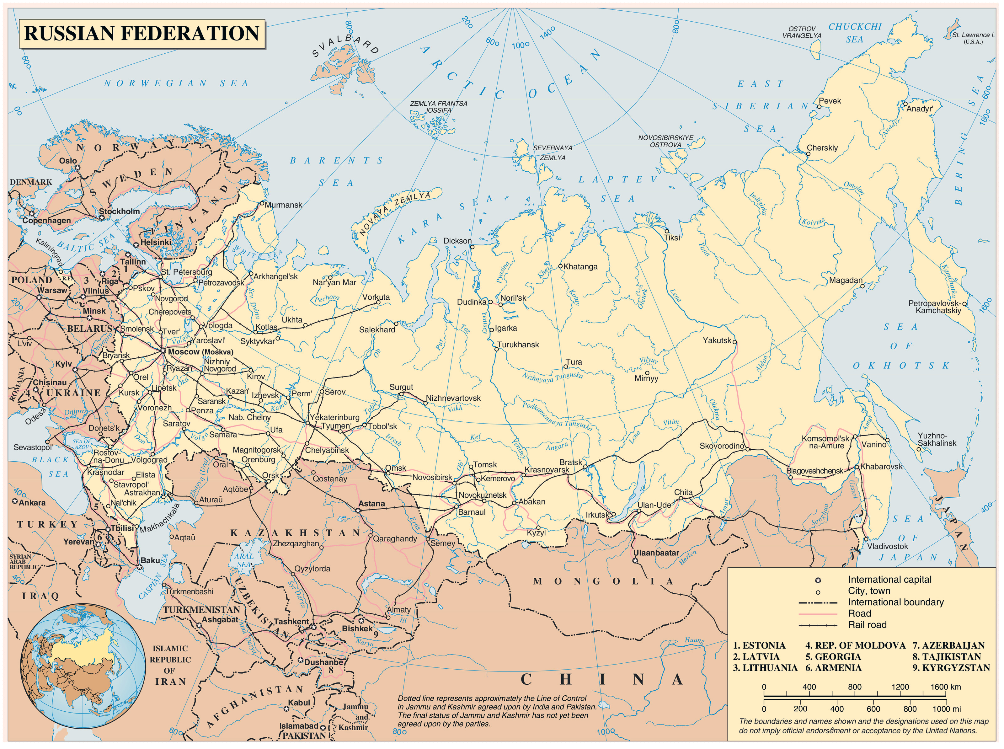 Maps of Russia Detailed map of Russia with cities and regions