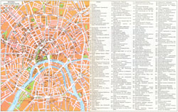Detailed tourist map of Moscow city center.