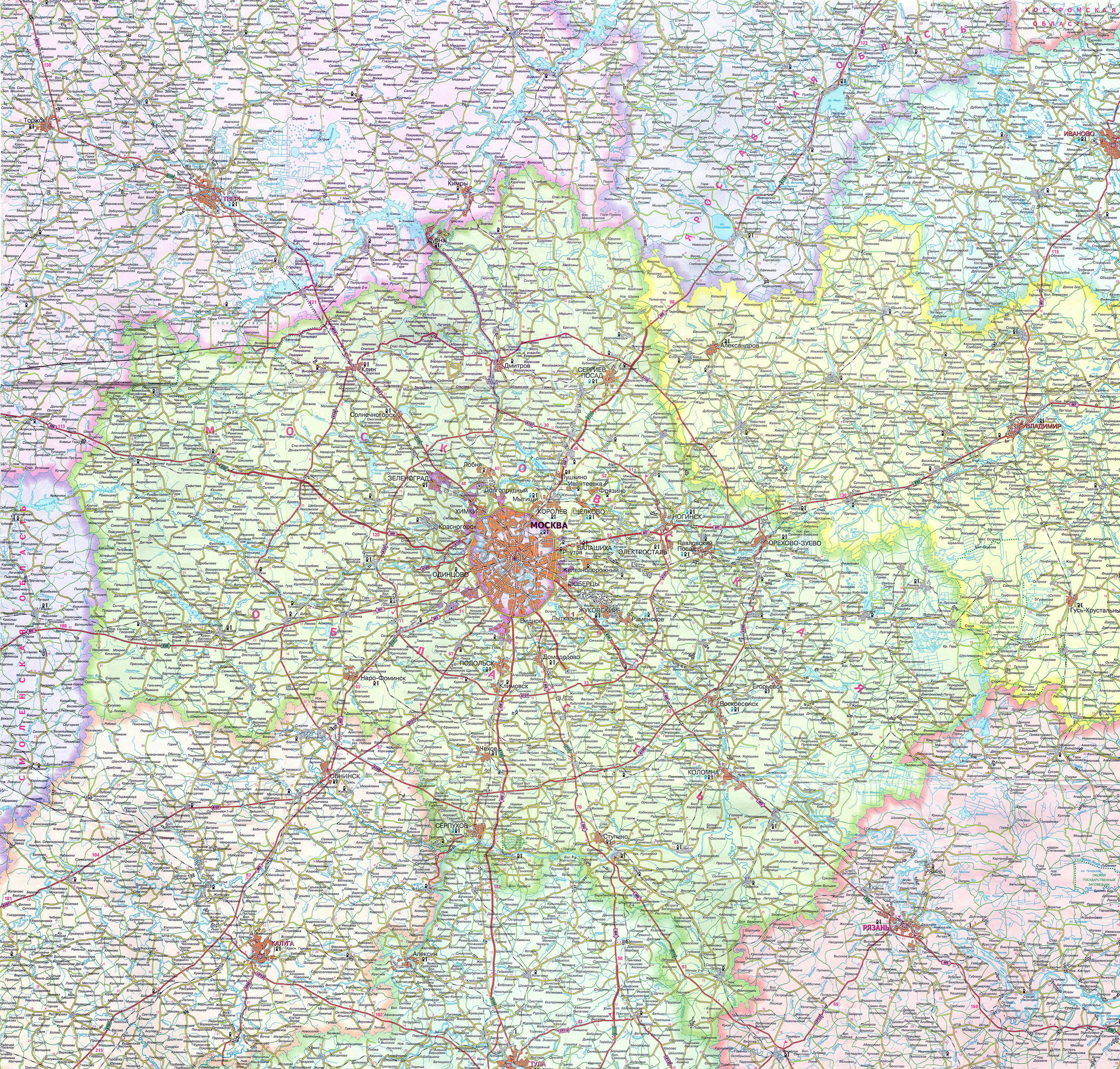 Maps Of Moscow Detailed Map Of Moscow In English Maps Of - Detailed map of russia