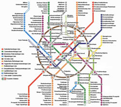 Moscow city metro map in English.