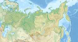 Relief map of Russia.