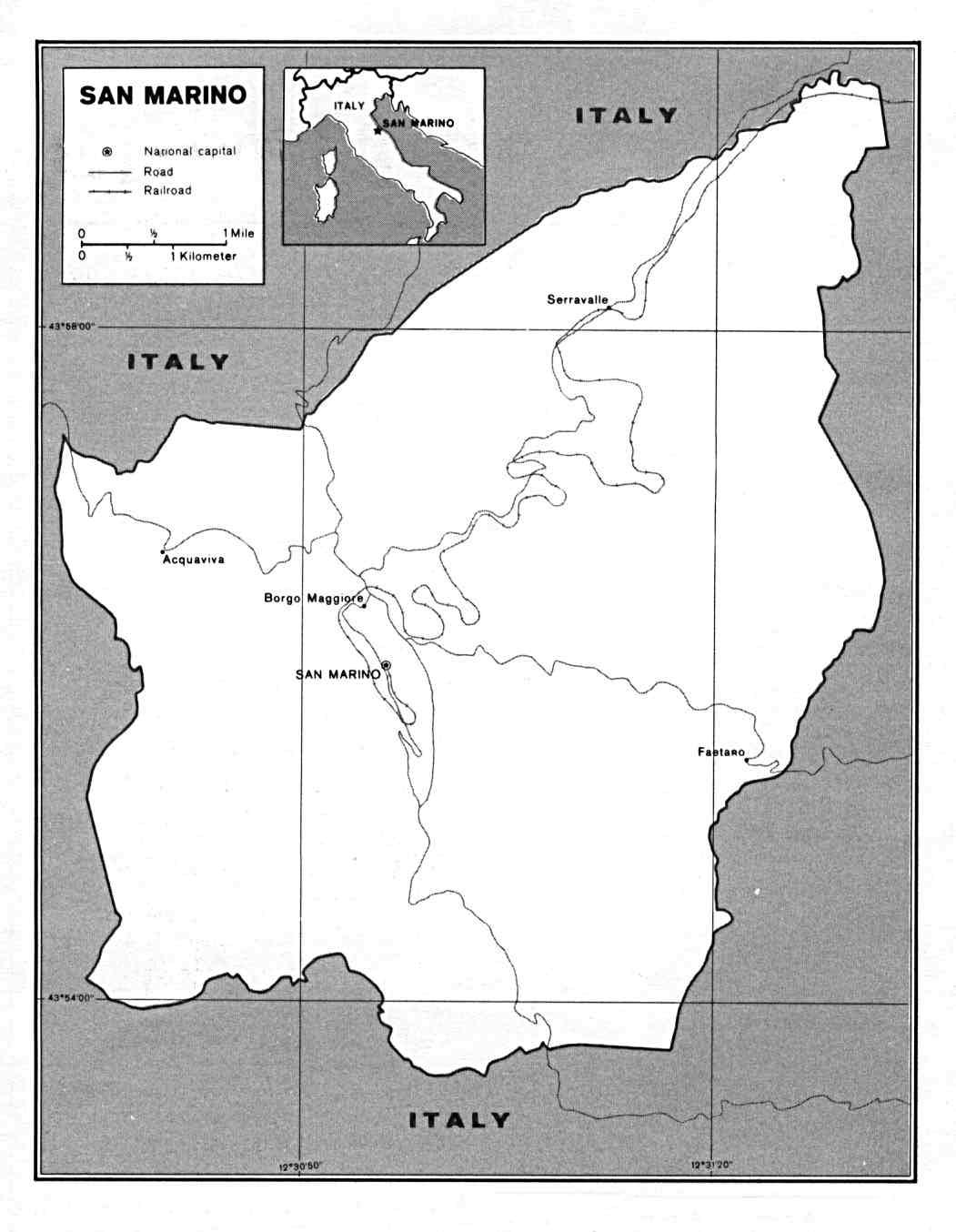 Maps Of San Marino Detailed Map Of San Marino In English Tourist