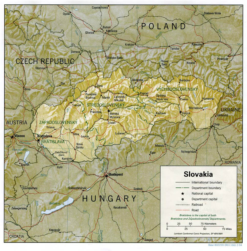 Maps of Slovakia Detailed map of Slovakia in English Tourist map