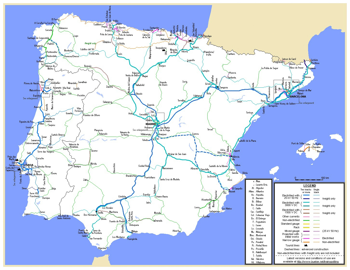 Map Of Portugal And Spain Detailed.Maps Of Spain Detailed Map Of Spain In English Tourist Map Map