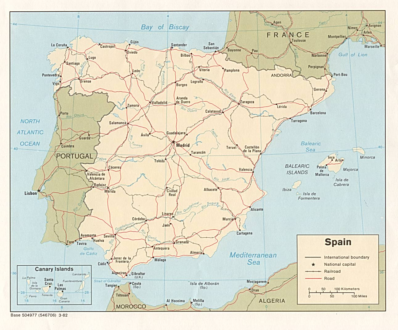Maps Of Spain Detailed Map Of Spain In English Tourist Map - Portugal map hd