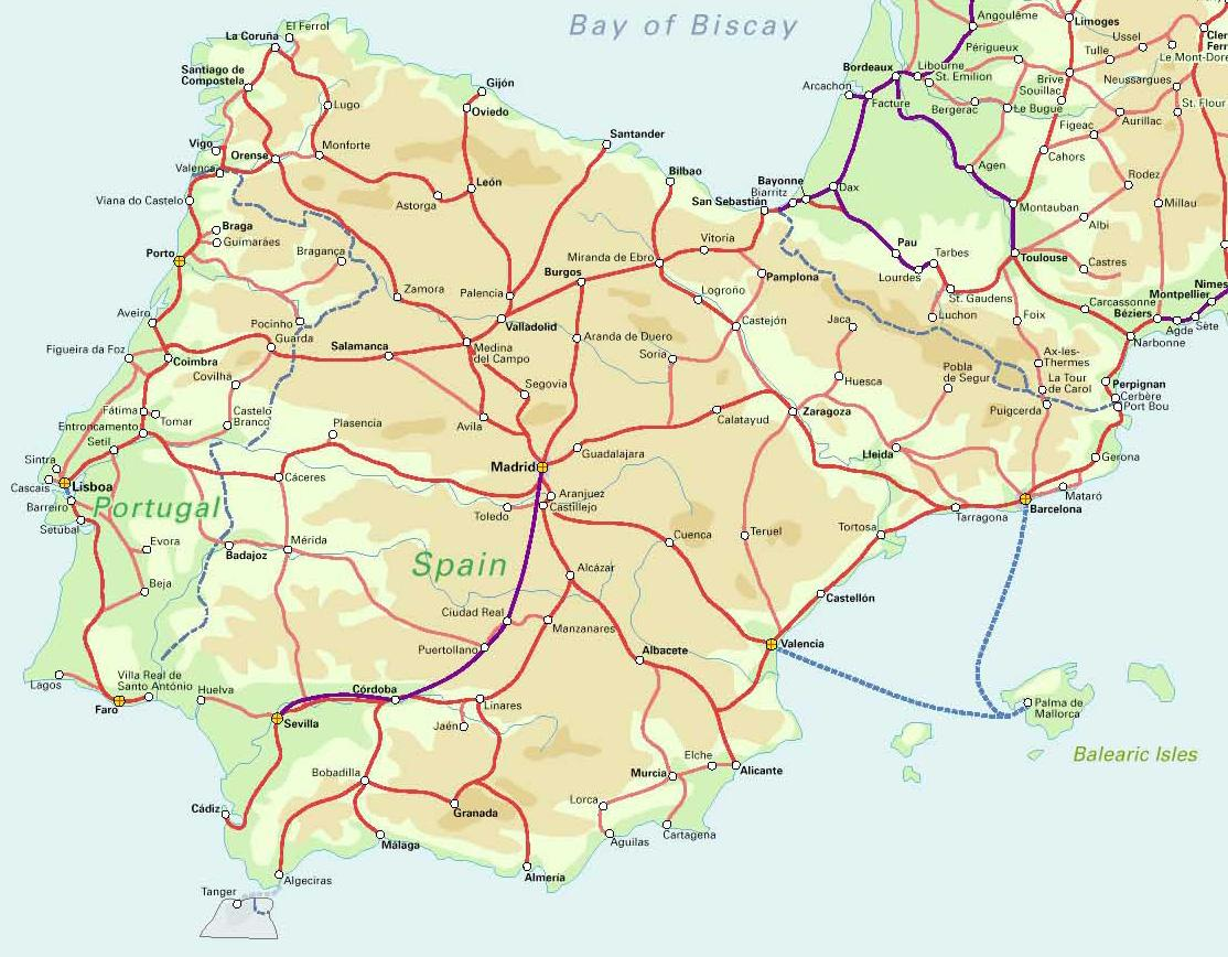 Road Map Of Spain.Maps Of Spain Detailed Map Of Spain In English Tourist Map Map