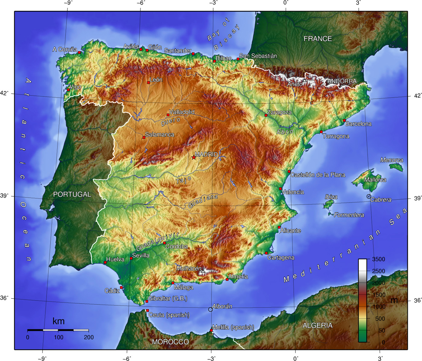 Detailed Map Of Spain.Maps Of Spain Detailed Map Of Spain In English Tourist Map Map